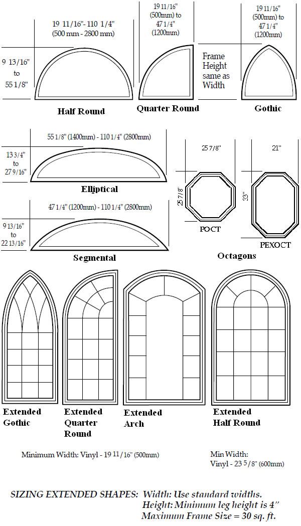Windows Door Sizes Shapes Golden Windows