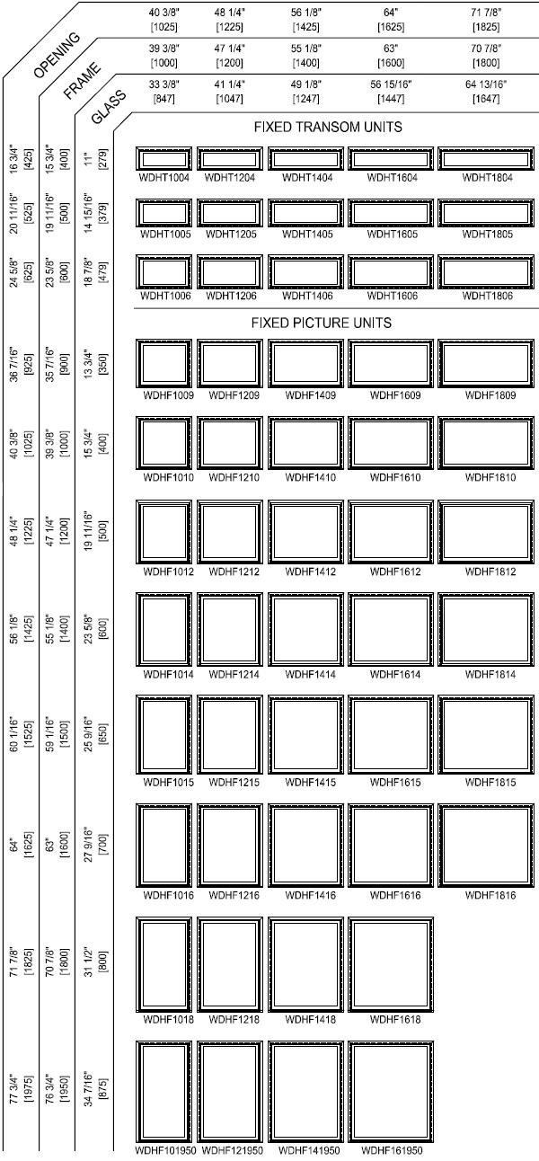 Double Hung Window Sizes Chart : Windows door sizes shapes golden